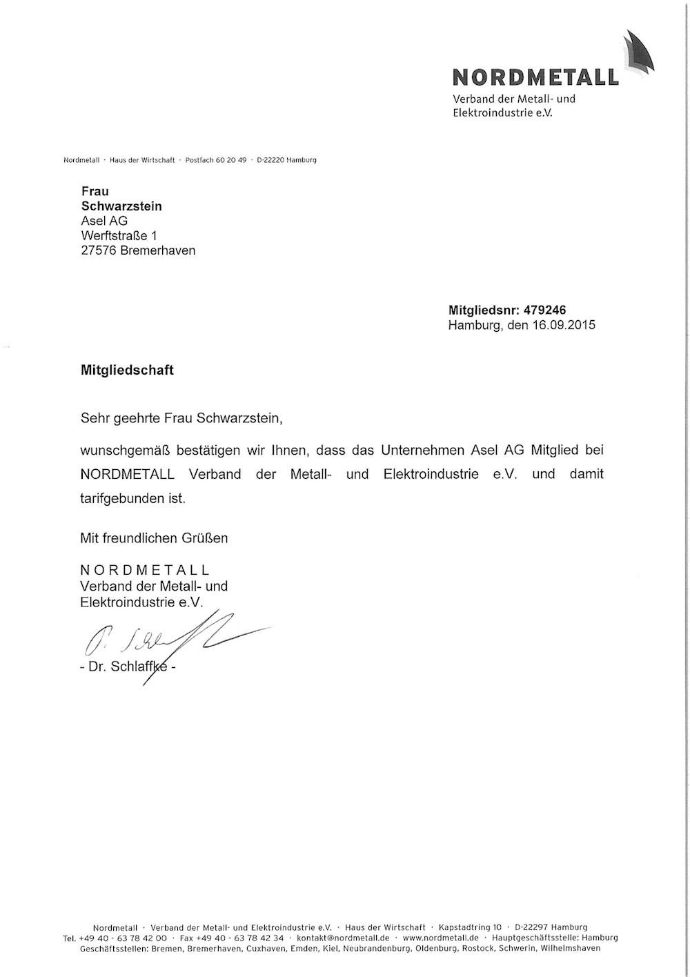 Zertifikate - ASEL AG (DE)